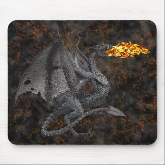 Fire-Breathing Dragon Mouse Pads