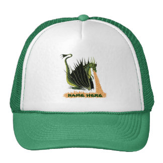 Fire Breathing Dragon (Name on Fire) Cap