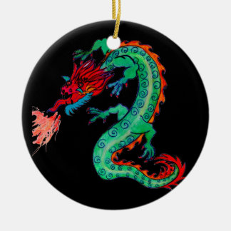 Fire Breathing Dragon on Ornament