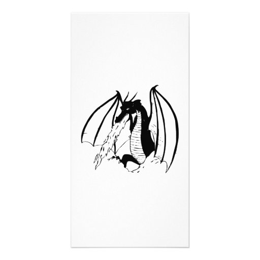 Fire Breathing Dragon Photo Card Template