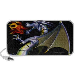 Fire-breathing dragon portable speakers