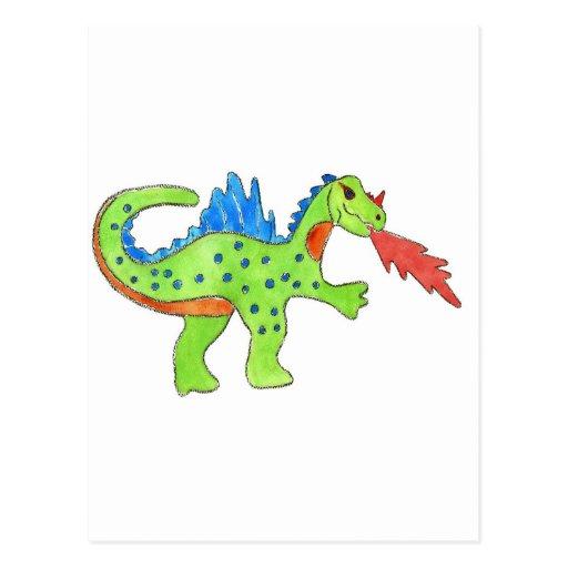 Fire Breathing Dragon Post Card