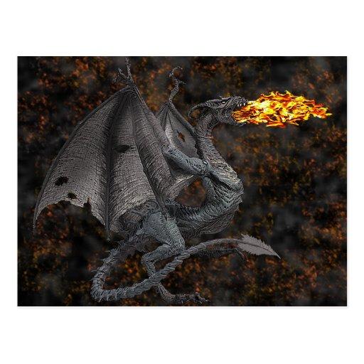 Fire-Breathing Dragon Postcards