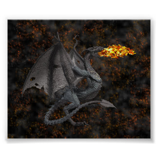 Fire-Breathing Dragon Poster