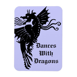 Fire Breathing Dragon Rectangular Photo Magnet