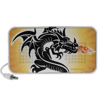 Fire breathing dragon mp3 speakers