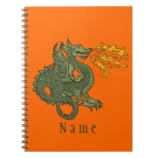 Fire Breathing Dragon Spiral Note Books