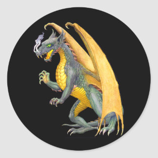 Fire Breathing Dragon Sticker