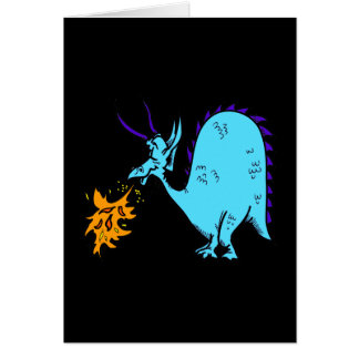 Fire Breathing Dragon Teal.png Card