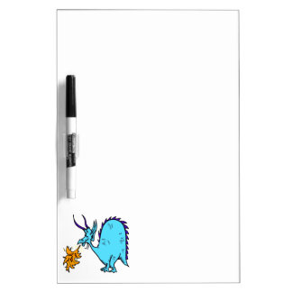 Fire Breathing Dragon Teal.png Dry-Erase Whiteboard