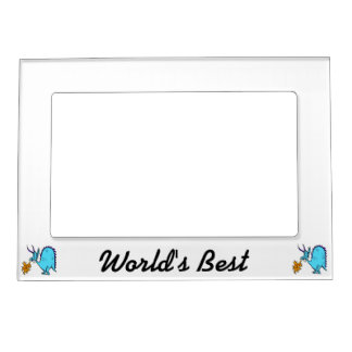 Fire Breathing Dragon Teal.png Magnetic Picture Frames