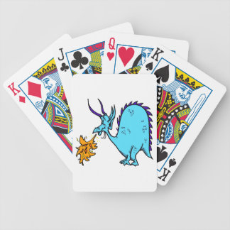 Fire Breathing Dragon Teal png Bicycle Playing Cards