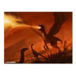 Fire-Breathing Prehistoric Dinosaur by Jake Murray Postcard