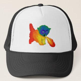 Fire Breathing Rainbow Kitten Trucker Hat