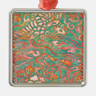 Fire-Breathing Southwest Desert Dragons Christmas Ornament