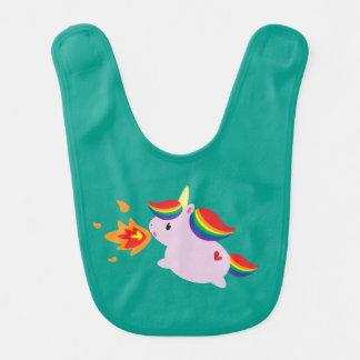 Fire-Breathing Unicorn Bib