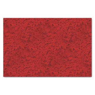 Fire Brick Red Cork Look Wood Grain Tissue Paper