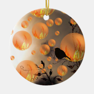 Fire Bubbles Christmas Ornament