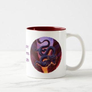 """Fire Cavern"" Close Up Two-Tone Coffee Mug"