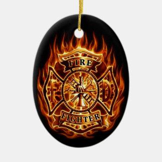 fire ceramic oval decoration