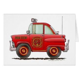 Fire Chief Car Firefighter Fireman Greeting Card