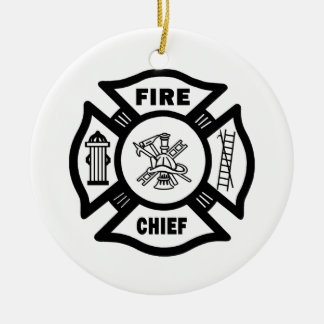 Fire Chief Christmas Ornament
