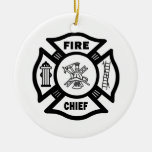Fire Chief Christmas Ornaments
