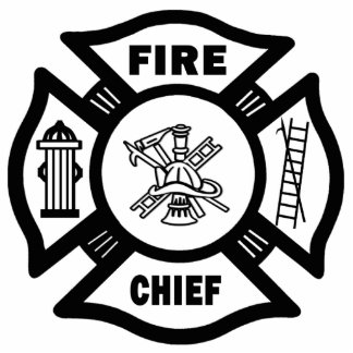 Fire Chief Photo Sculpture Decoration