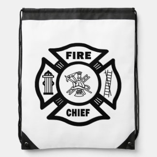 Fire Chief Drawstring Backpacks