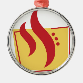 Fire Christmas Ornament