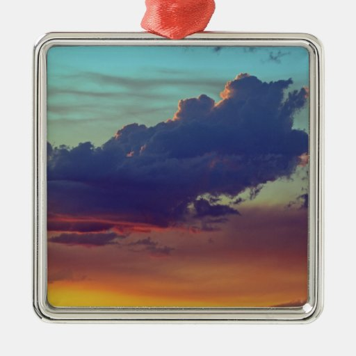 Fire Clouds Christmas Ornament