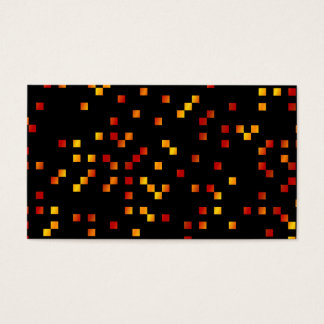 Fire Colors, Square Dots on Black. Business Card