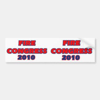 FIRE CONGRESS 2010 BUMPER STICKER