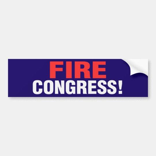 Fire Congress! Bumper Sticker