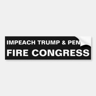 FIRE CONGRESS bumper sticker