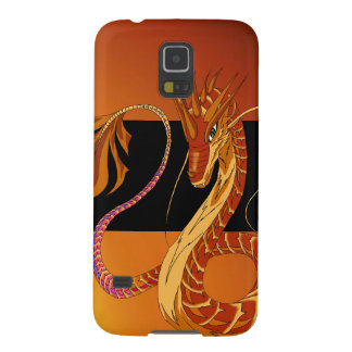 Fire Coral Dragon Red Orange Galaxy S5 Cover