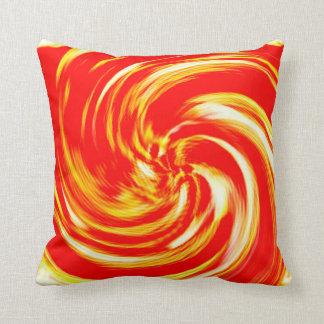 Fire Creame Swirl Cushion