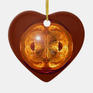 Fire Crystal Ceramic Heart Decoration