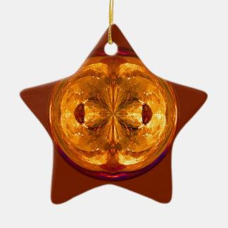 Fire Crystal Christmas Ornament