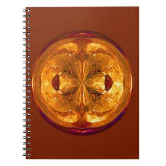 Fire Crystal Spiral Notebook