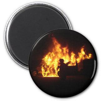 Fire Dance 6 Cm Round Magnet