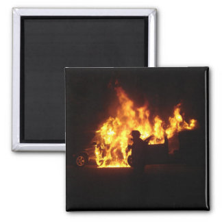 Fire Dance Square Magnet