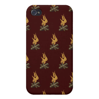 Fire Dark Red iPhone 4 Cases