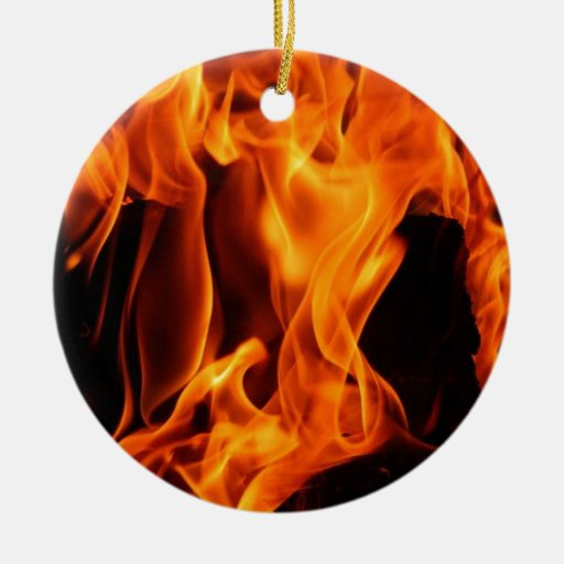 Fire Christmas Tree Ornaments