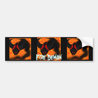 Fire Demon Bumper Sticker