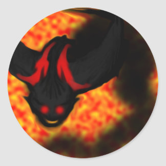 Fire Demon Classic Round Sticker