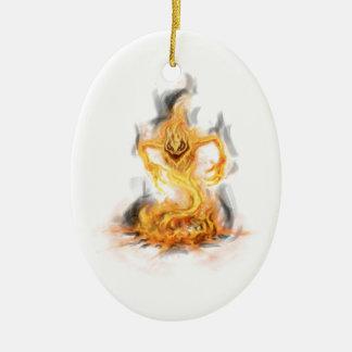 Fire Demon Christmas Tree Ornaments