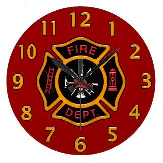 Fire Department Badge Large Clock