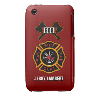 Fire Department Badge Name Template Case-Mate iPhone 3 Case