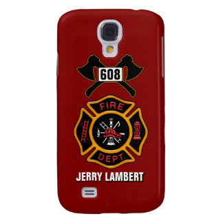 Fire Department Badge Name Template Galaxy S4 Case